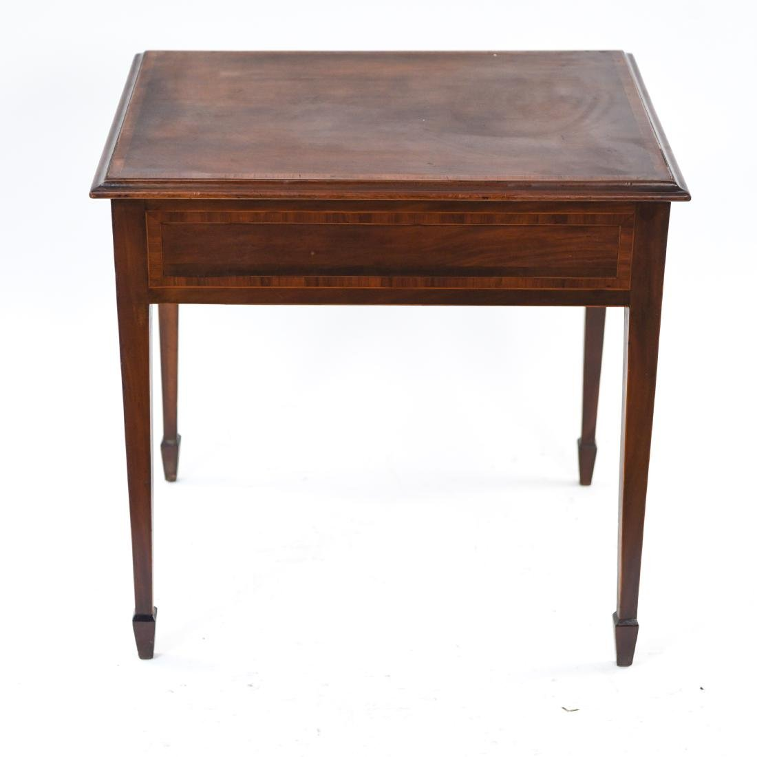 ANTIQUE ONE DRAWER SIDE TABLE - 10