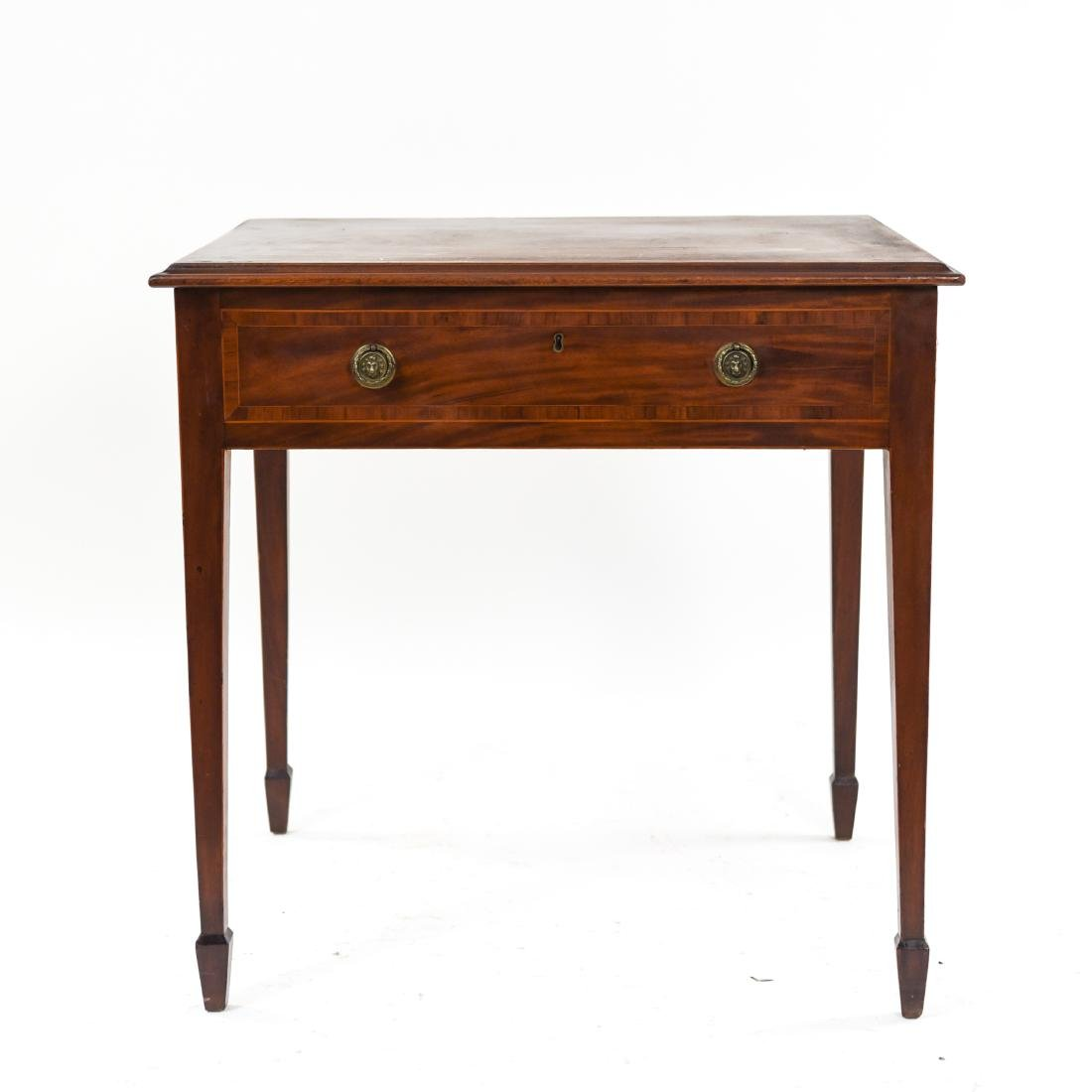 ANTIQUE ONE DRAWER SIDE TABLE - 2