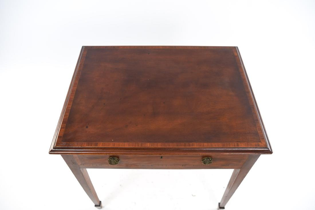 ANTIQUE ONE DRAWER SIDE TABLE - 3