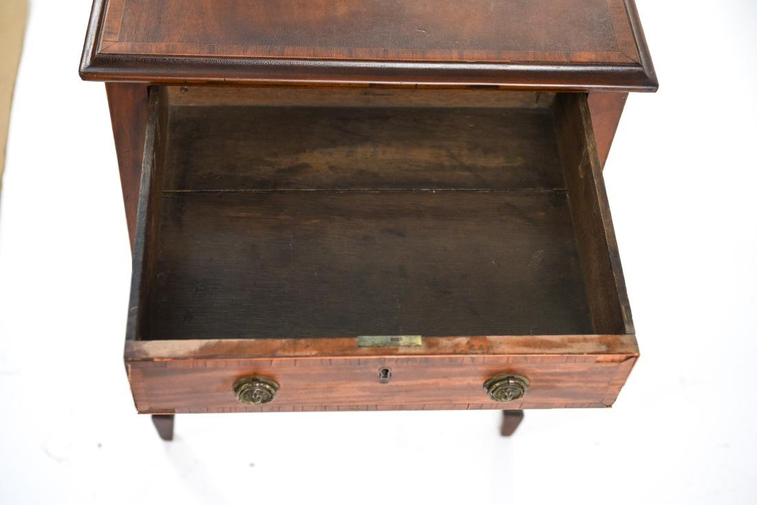 ANTIQUE ONE DRAWER SIDE TABLE - 5