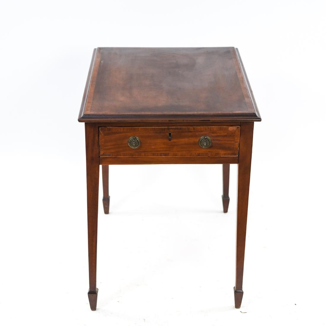 ANTIQUE ONE DRAWER SIDE TABLE - 9
