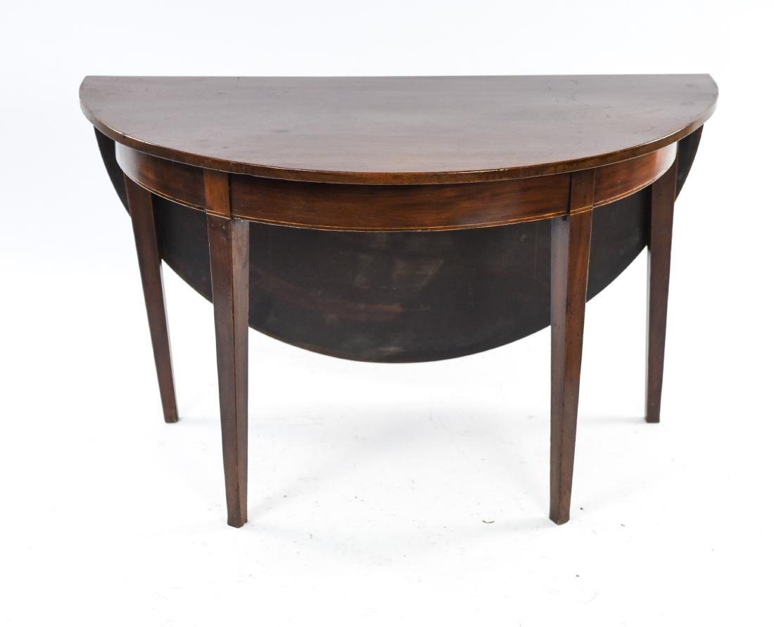 DROP LEAF DEMI LUNE TABLE