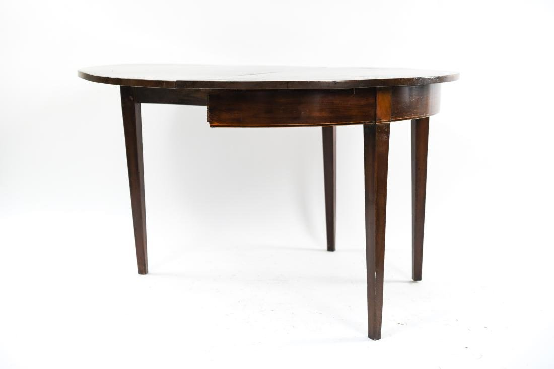 DROP LEAF DEMI LUNE TABLE - 8