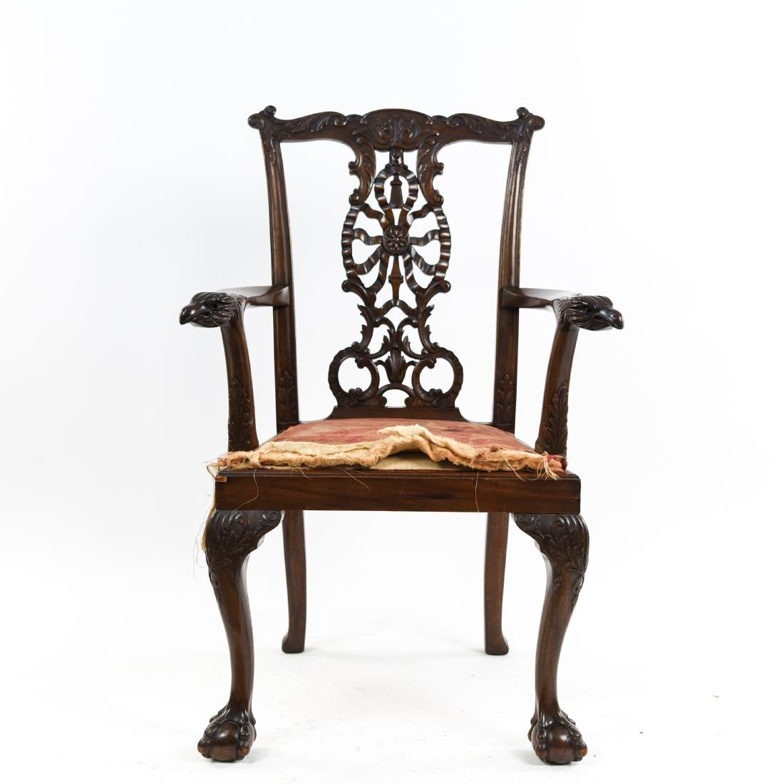 CARVED ARM CHAIR - 2