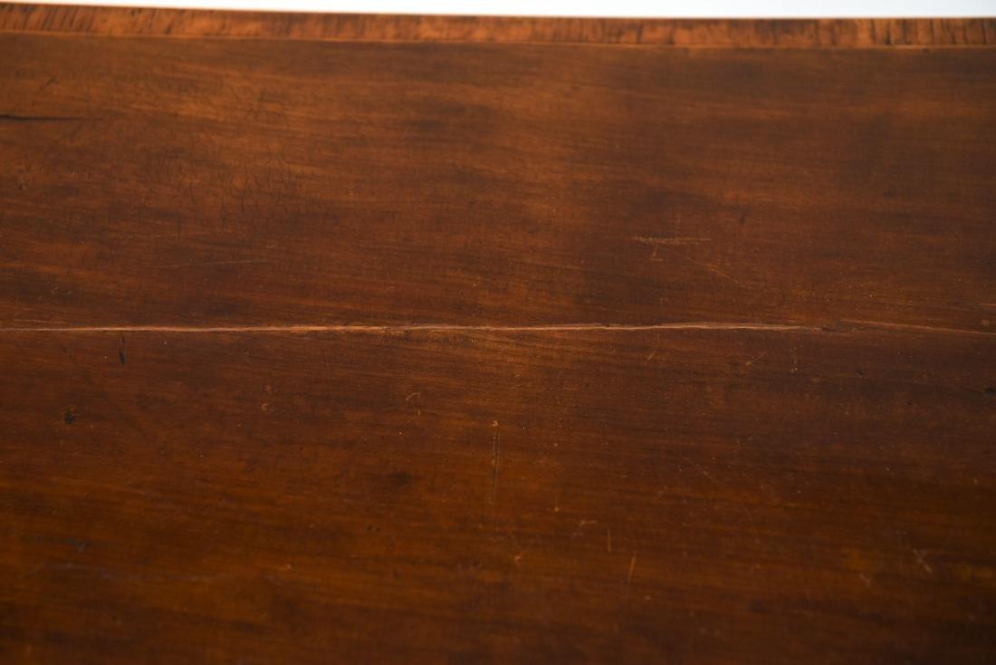 ANTIQUE FLIP TOP INLAID DEMI LUNE TABLE - 4