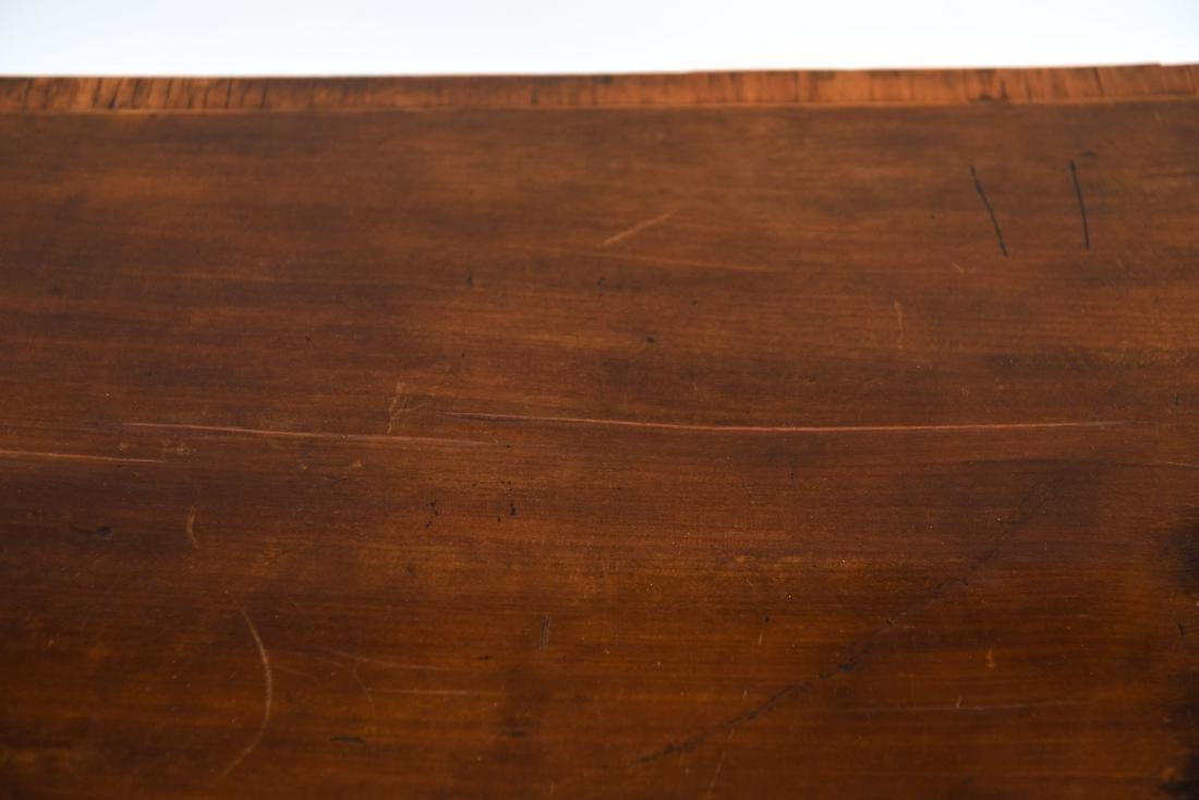 ANTIQUE FLIP TOP INLAID DEMI LUNE TABLE - 5
