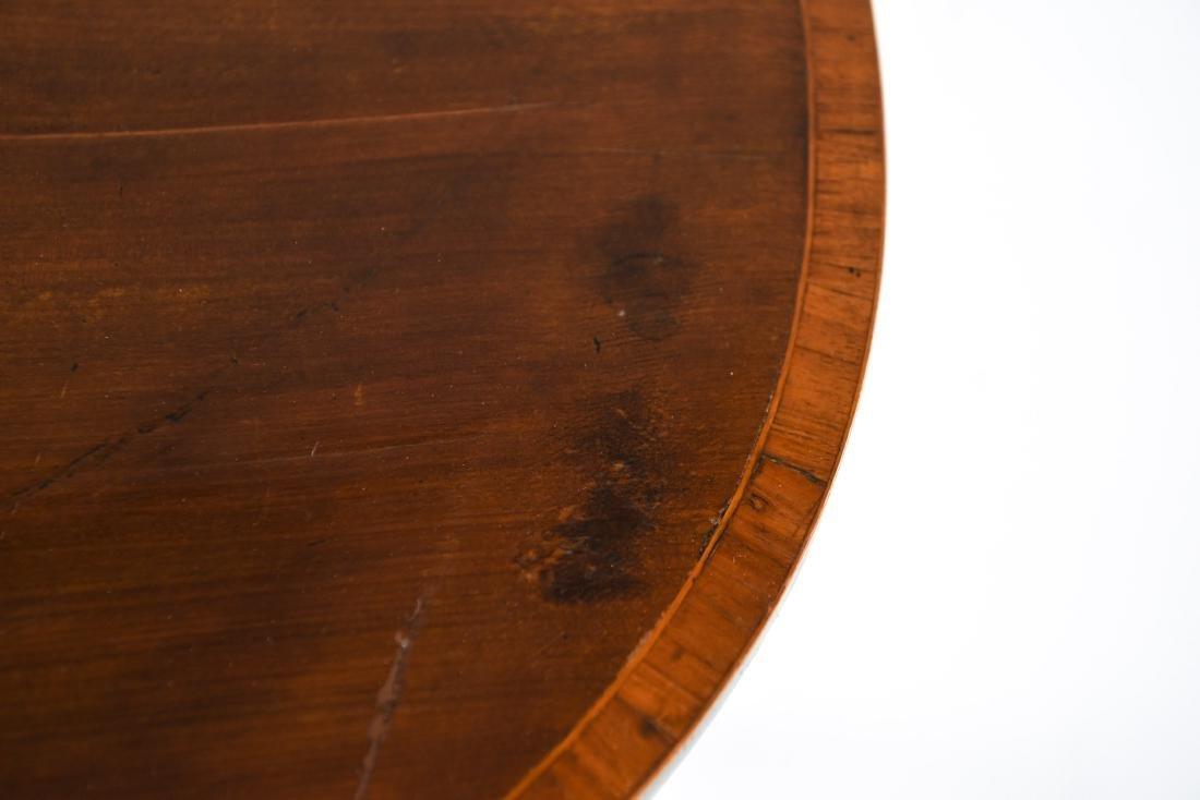 ANTIQUE FLIP TOP INLAID DEMI LUNE TABLE - 6