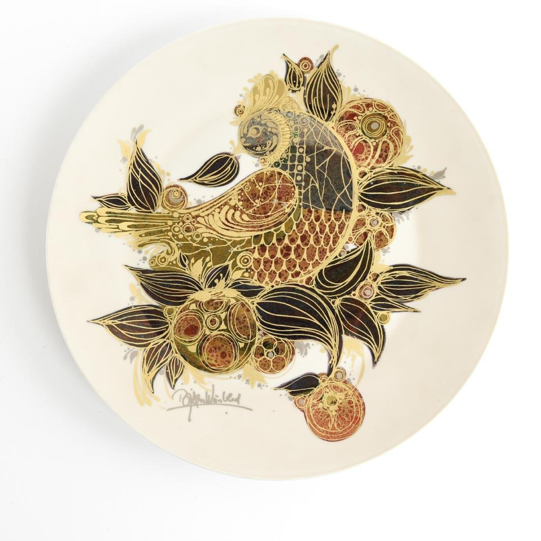 BJORN WINBLAAD FOR ROSENTHAL CERAMIC CHARGER PLATE