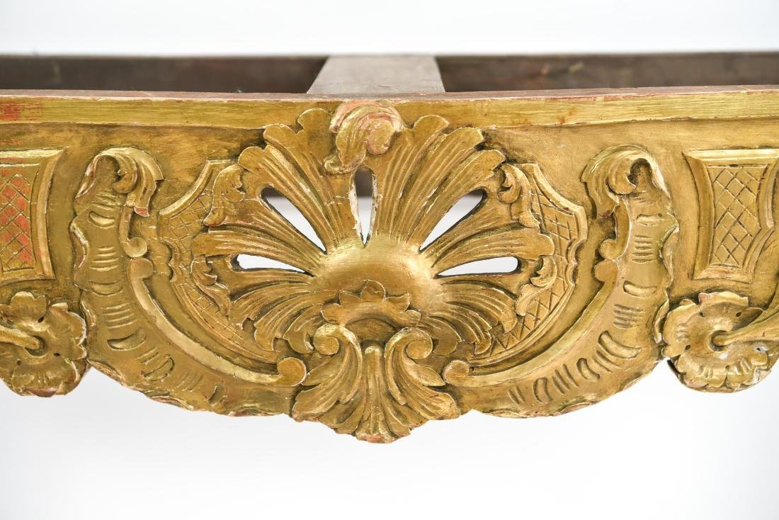 CARVED AND GILT CONSOLE TABLE BASE - 3