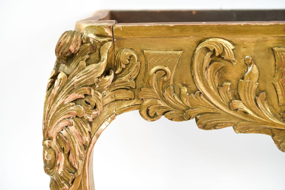 CARVED AND GILT CONSOLE TABLE BASE - 5