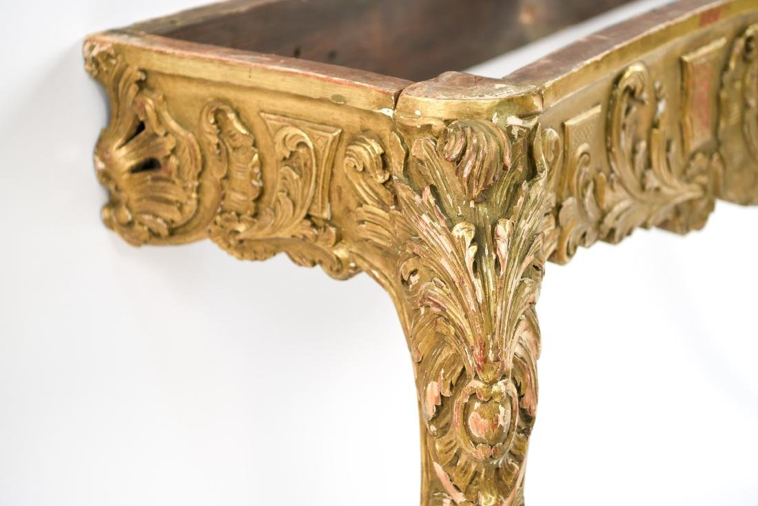 CARVED AND GILT CONSOLE TABLE BASE - 7