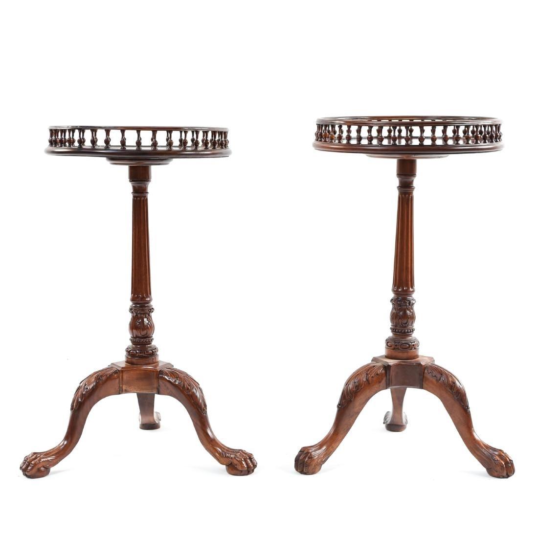 PAIR OF THREE LEG SIDE TABLES - 2