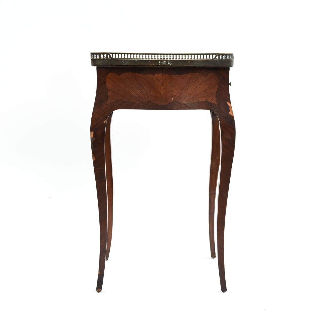 FRENCH MARBLE TOP SIDE TABLE - 2