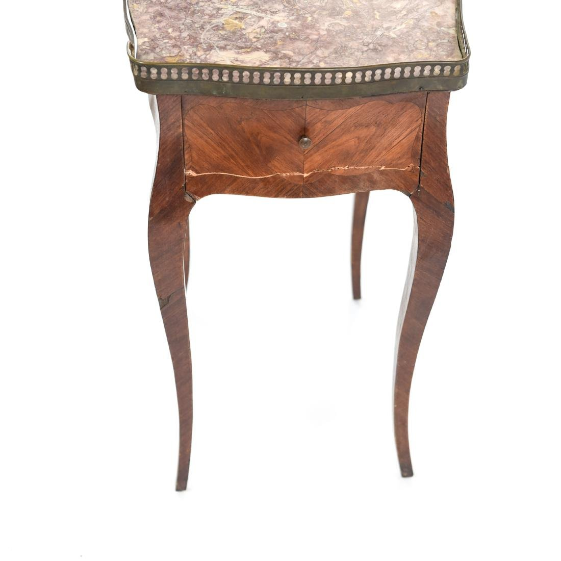 FRENCH MARBLE TOP SIDE TABLE - 7