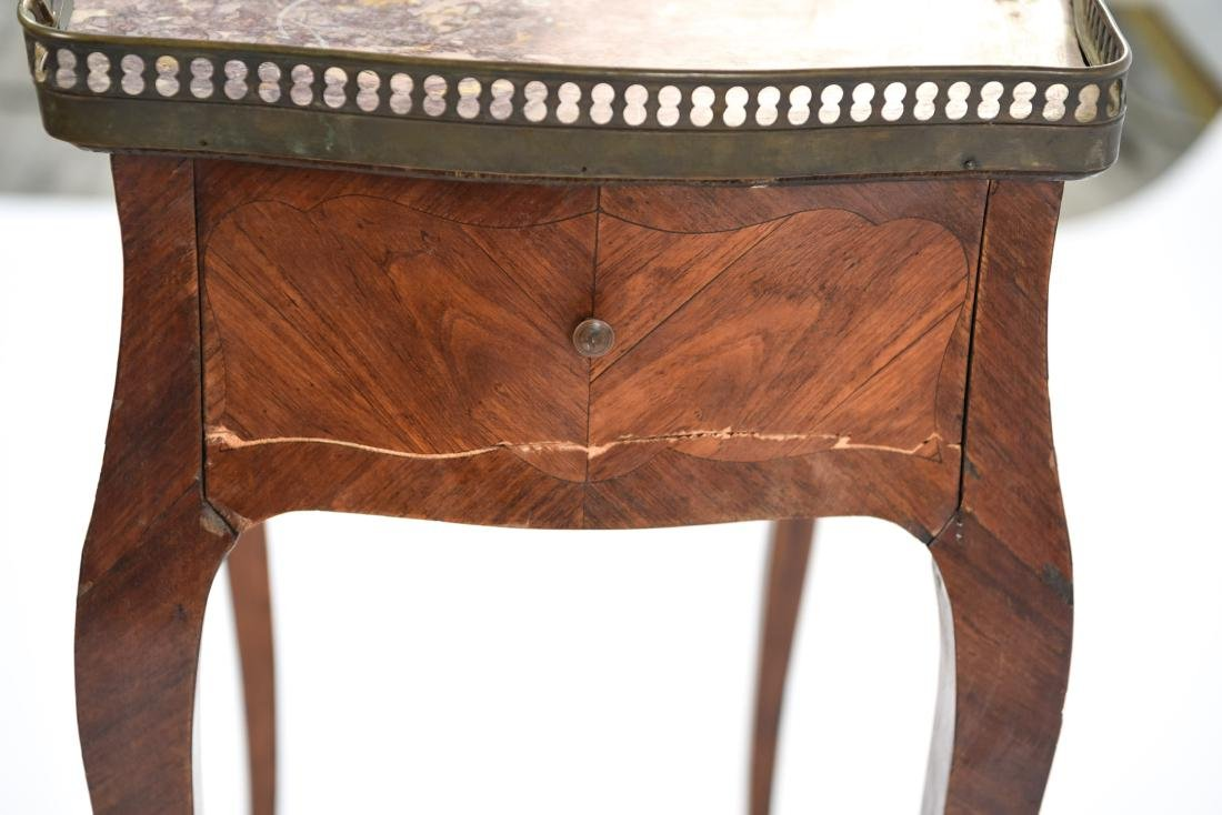 FRENCH MARBLE TOP SIDE TABLE - 8