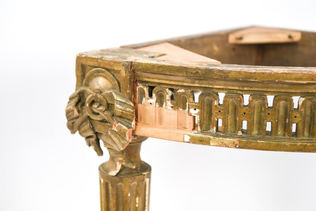 PAIR OF ANTIQUE GILTWOOD CORNER TABLES - 2