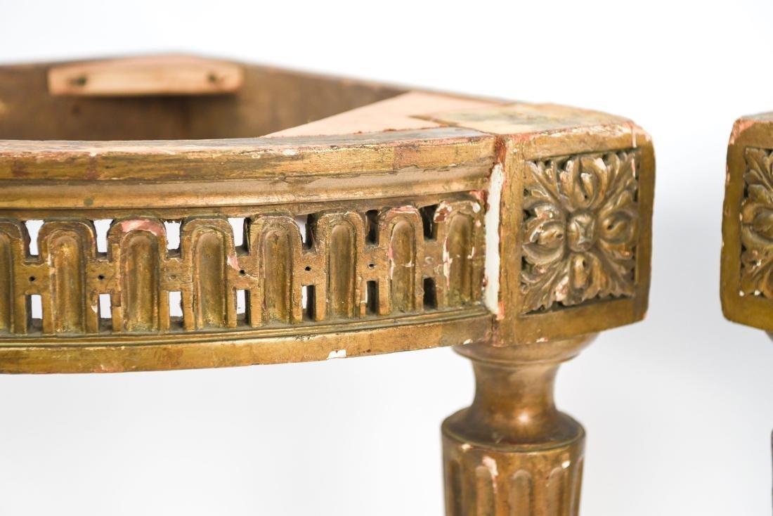 PAIR OF ANTIQUE GILTWOOD CORNER TABLES - 3