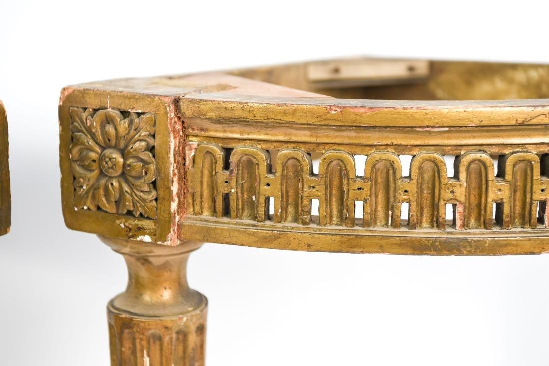 PAIR OF ANTIQUE GILTWOOD CORNER TABLES - 4