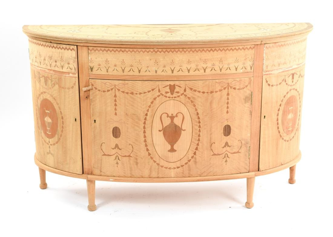 INLAID DEMILUNE SIDEBOARD