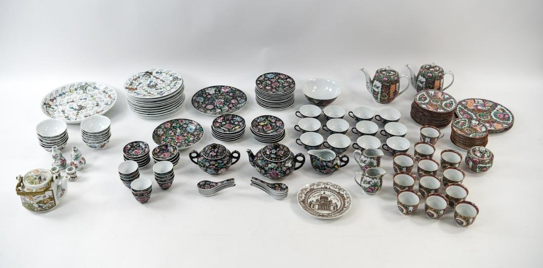 LARGE GROUPING OF DECORATIVE CHINESE PORCELAIN