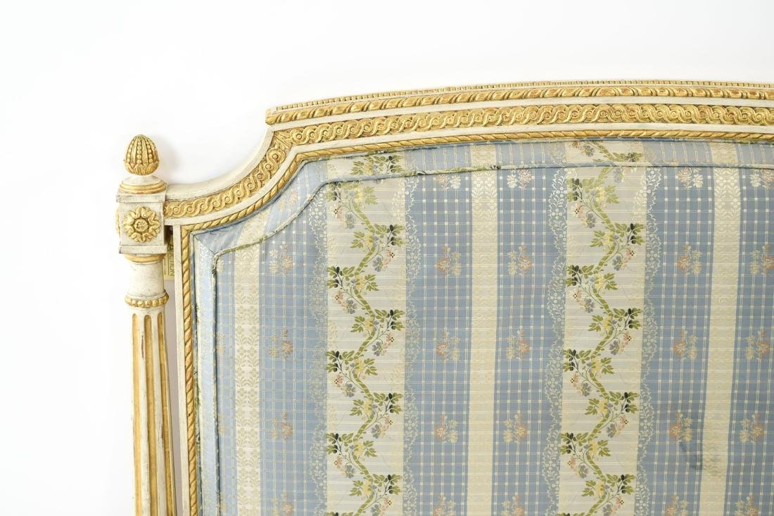 PAIR OF FRENCH STYLE TWIN UPHOLSTERED BEDS - 3