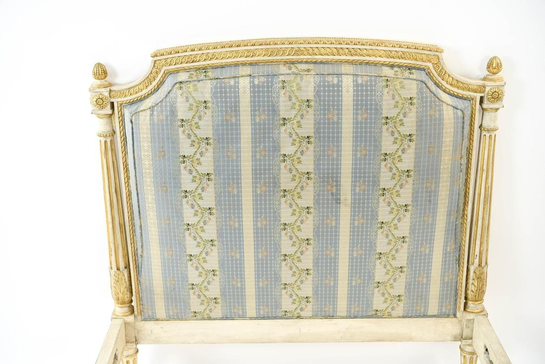 PAIR OF FRENCH STYLE TWIN UPHOLSTERED BEDS - 4