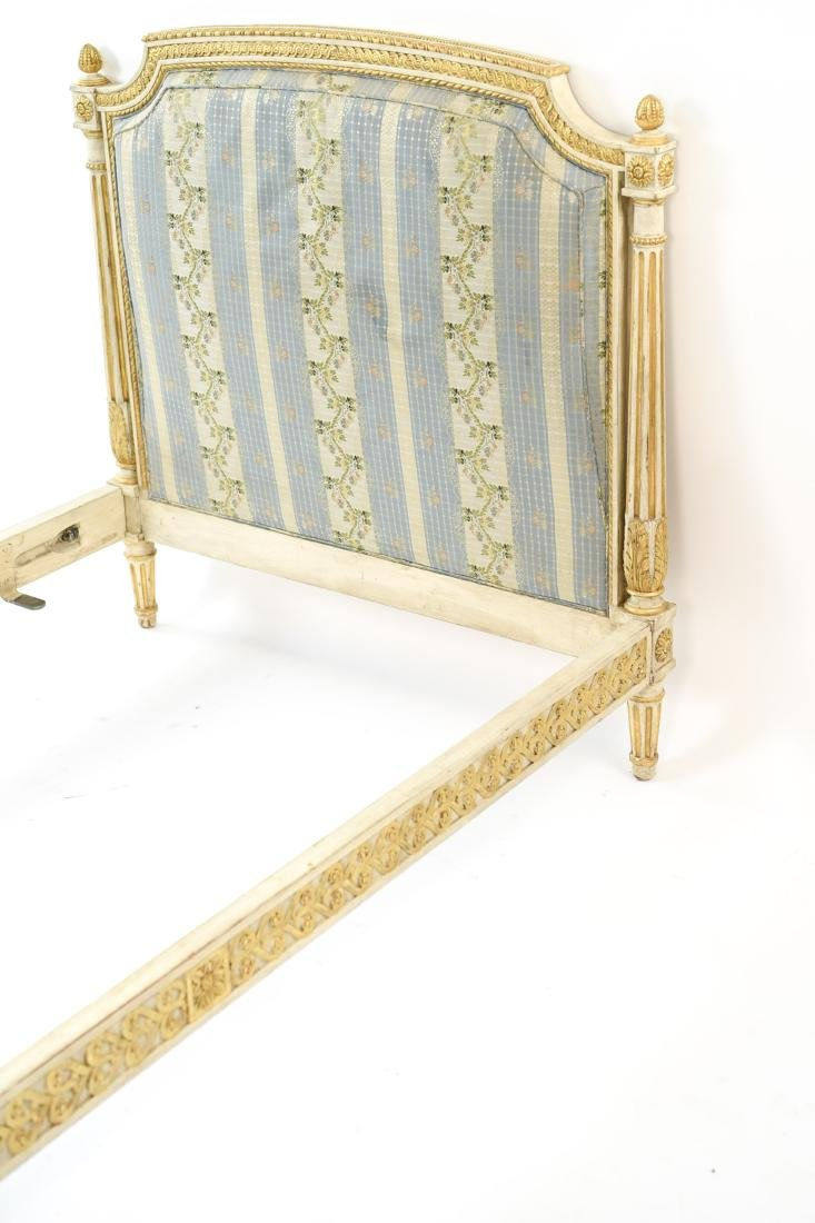 PAIR OF FRENCH STYLE TWIN UPHOLSTERED BEDS - 5