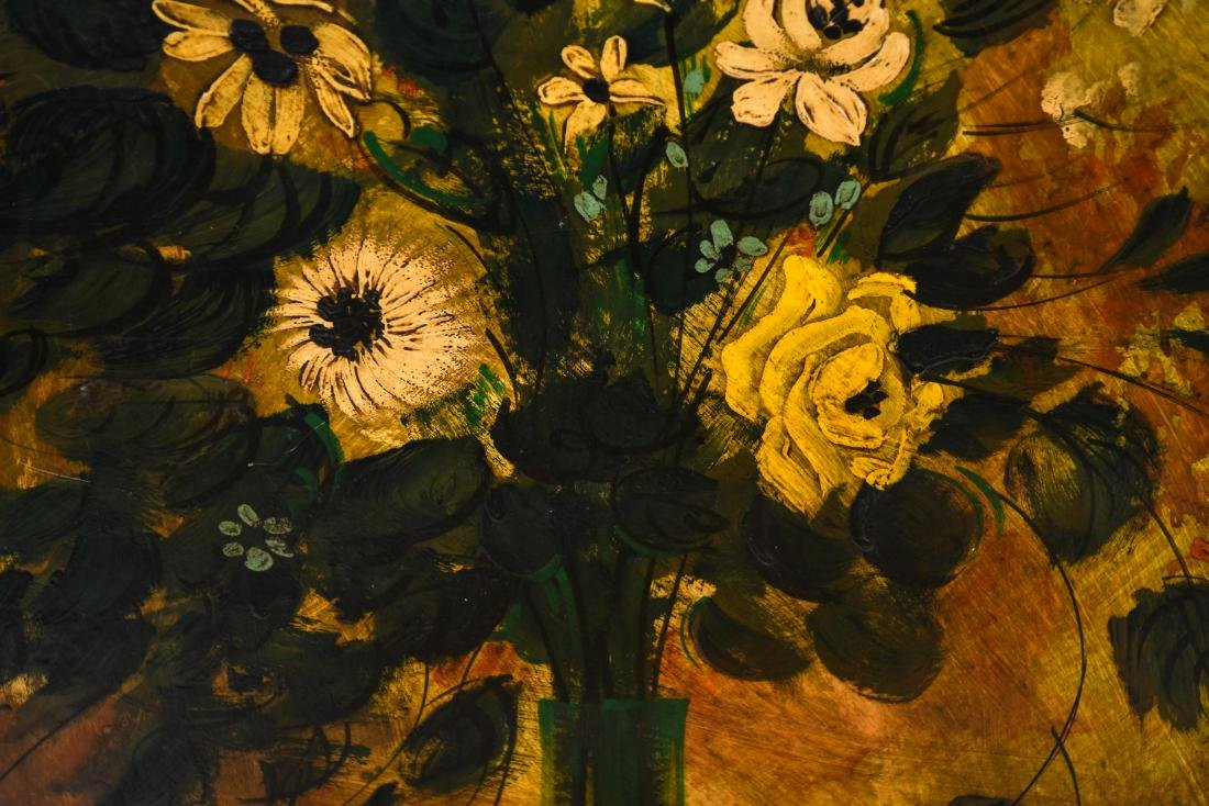 OIL ON BOARD STILL LIFE FLORAL PAINTING - 5