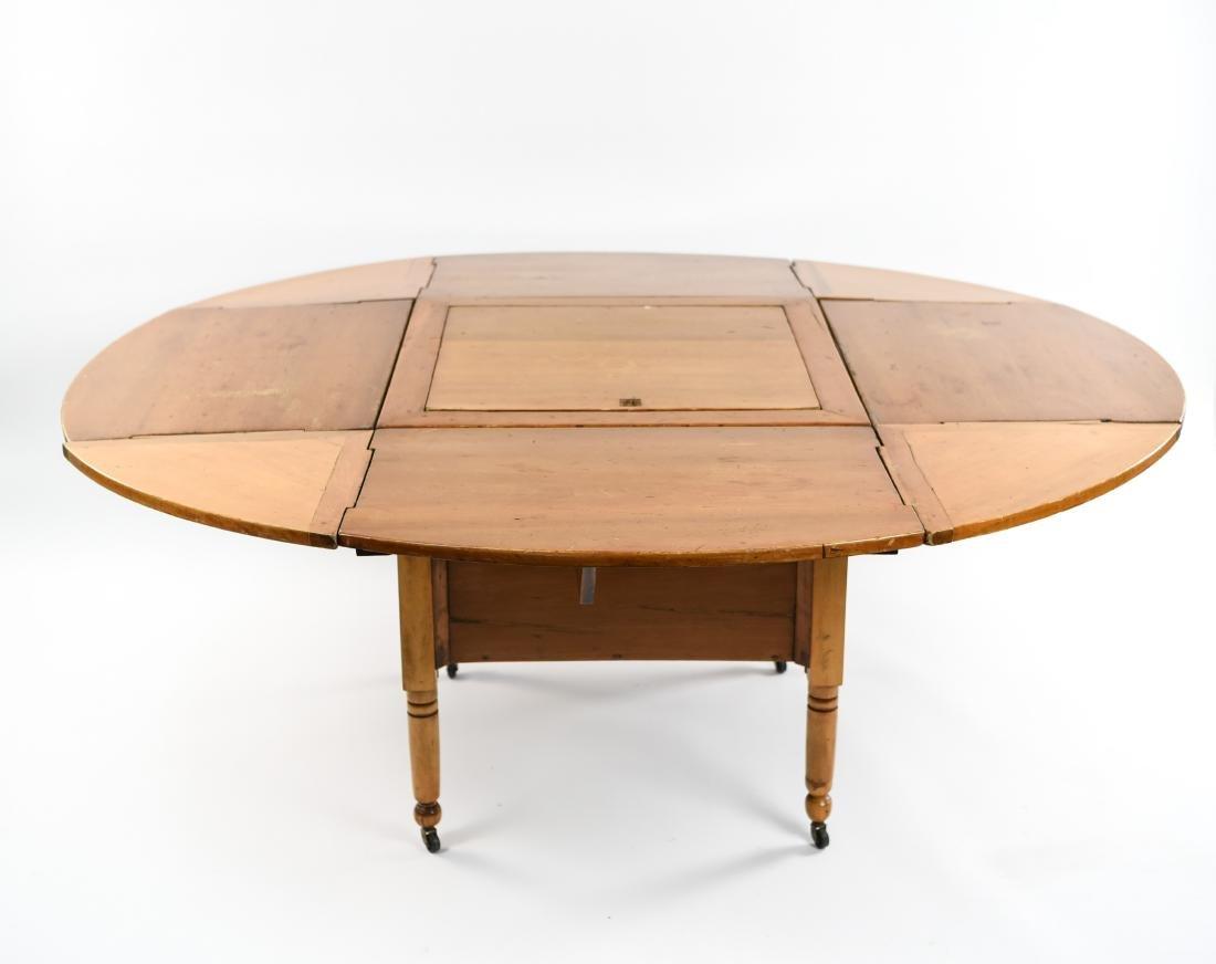 PINE DROP LEAF TABLE W/ LEAVES