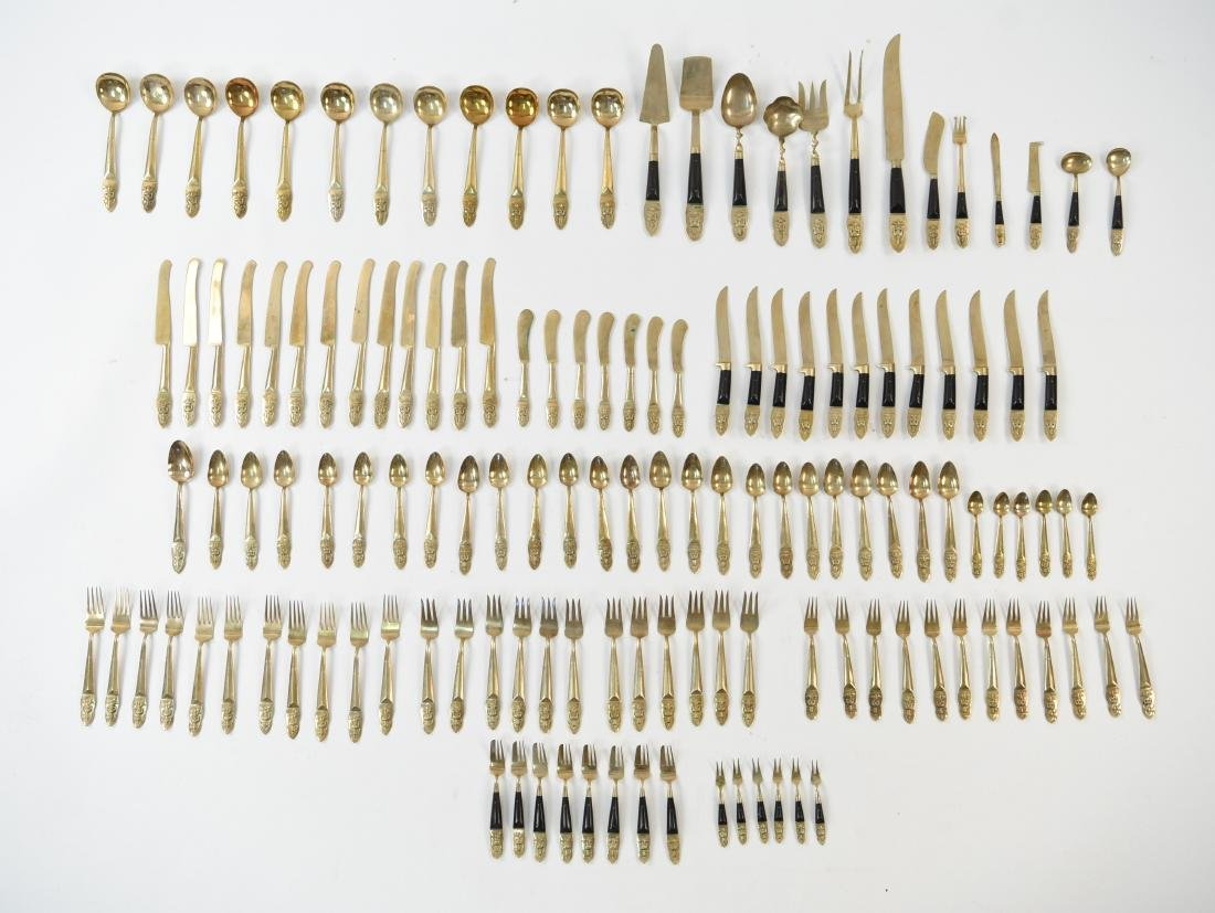 MID-CENTURY INDIA BRASS FLATWARE