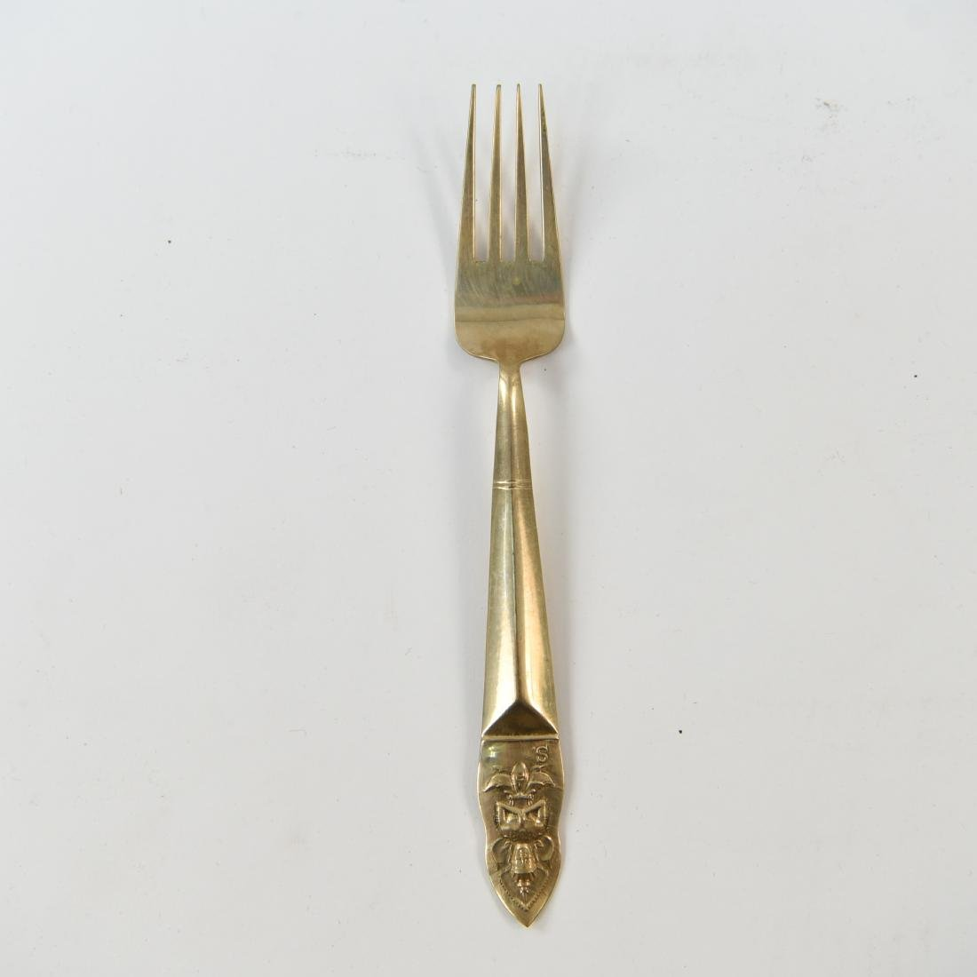MID-CENTURY INDIA BRASS FLATWARE - 4