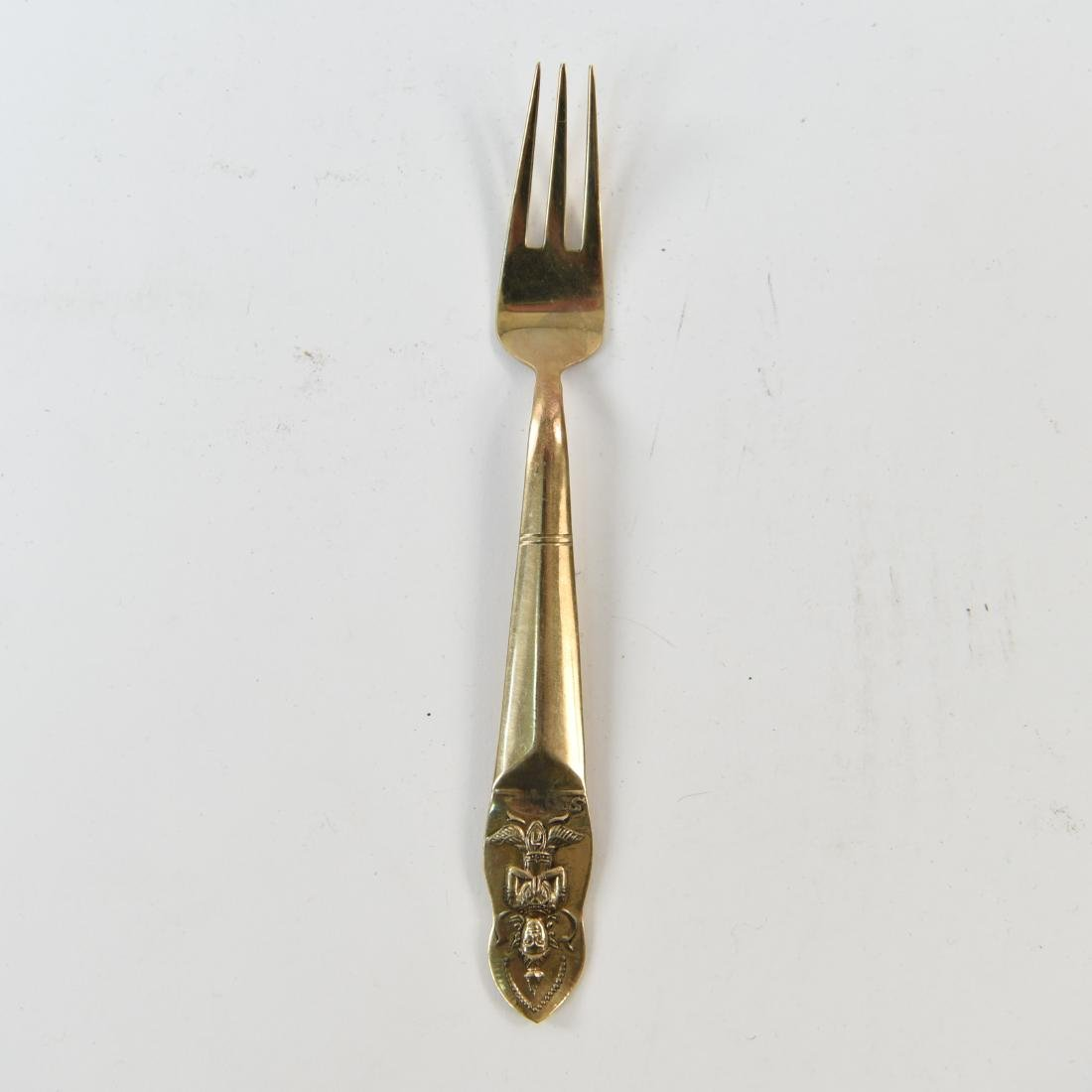 MID-CENTURY INDIA BRASS FLATWARE - 8