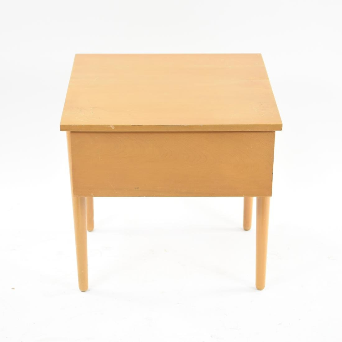 MID-CENTURY BIRCH SIDE TABLE