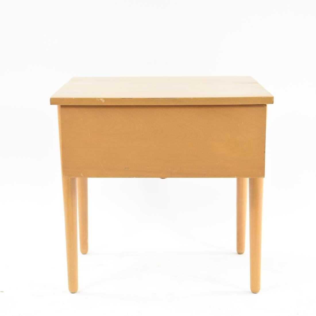 MID-CENTURY BIRCH SIDE TABLE - 2