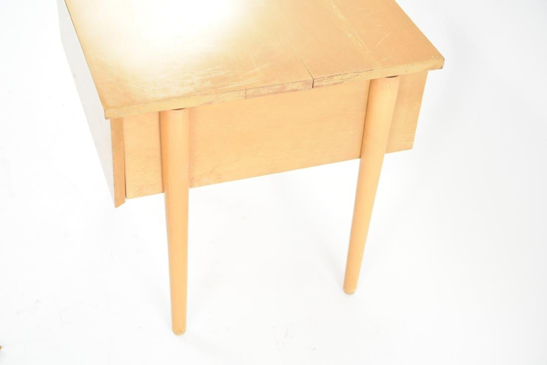 MID-CENTURY BIRCH SIDE TABLE - 9