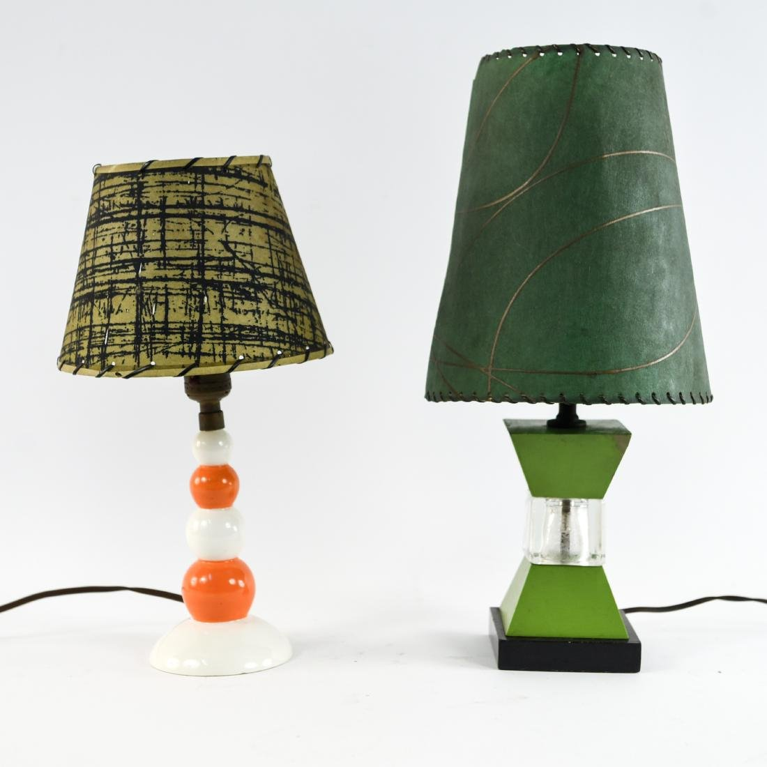 TWO MID-CENTURY LAMPS