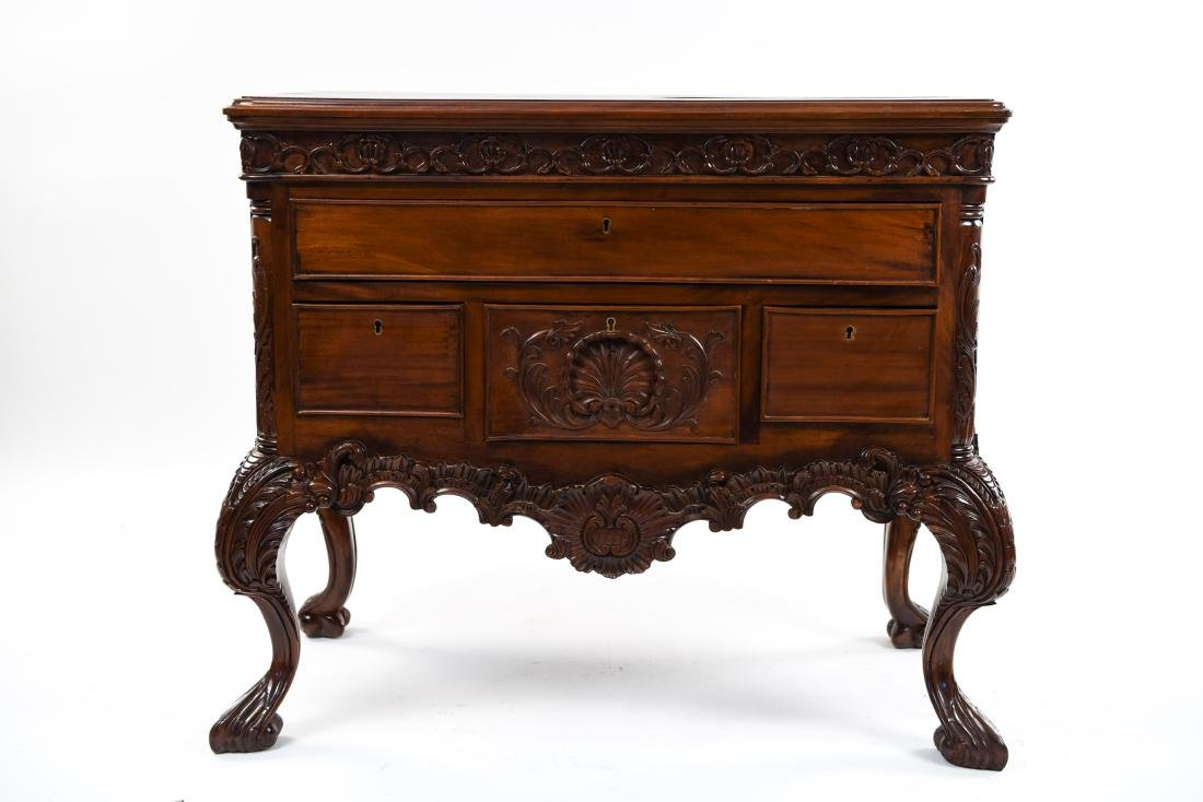 CARVED CHEST OR SERVER - 2