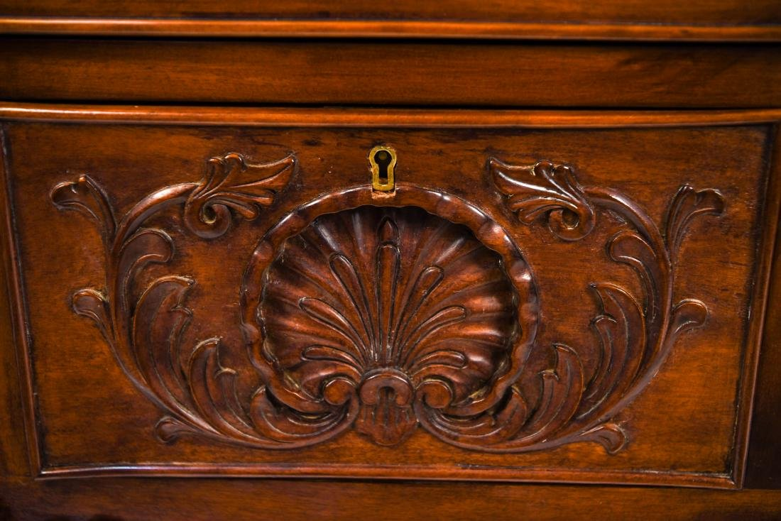 CARVED CHEST OR SERVER - 6