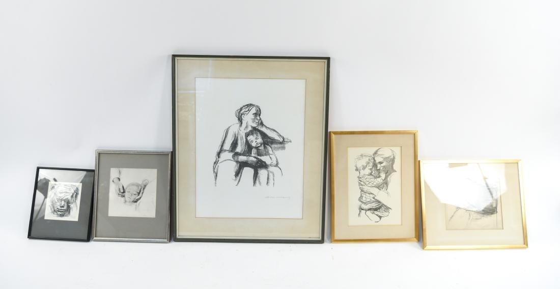 GROUPING OF KATHE KOLLWITZ PRINTS