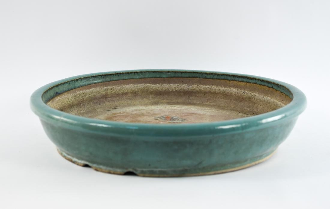 CELADON GLAZE CERAMIC PLANTER BASE