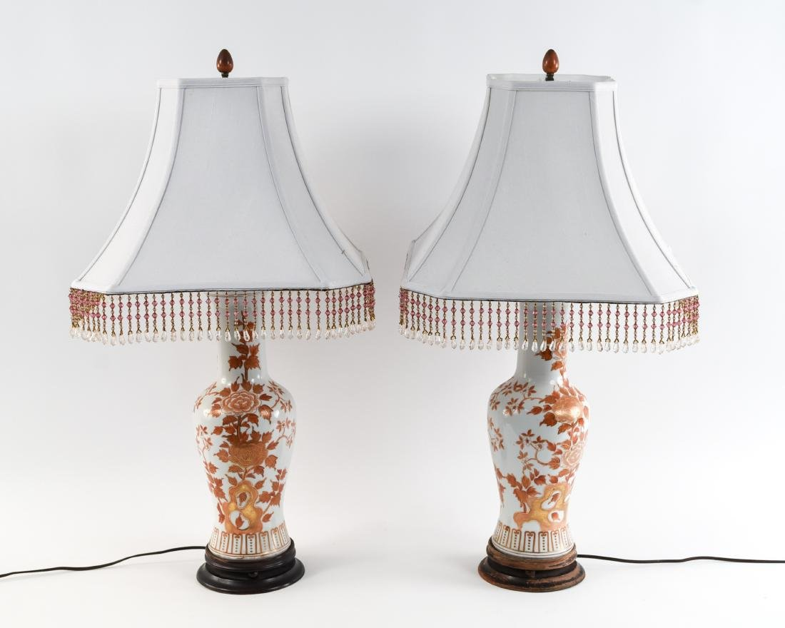 PAIR OF ASIAN PORCELAIN LAMPS