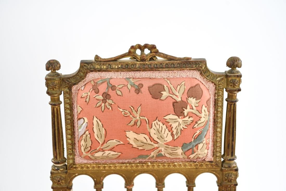 PAIR OF SMALL GILT FRENCH CHAIRS - 3