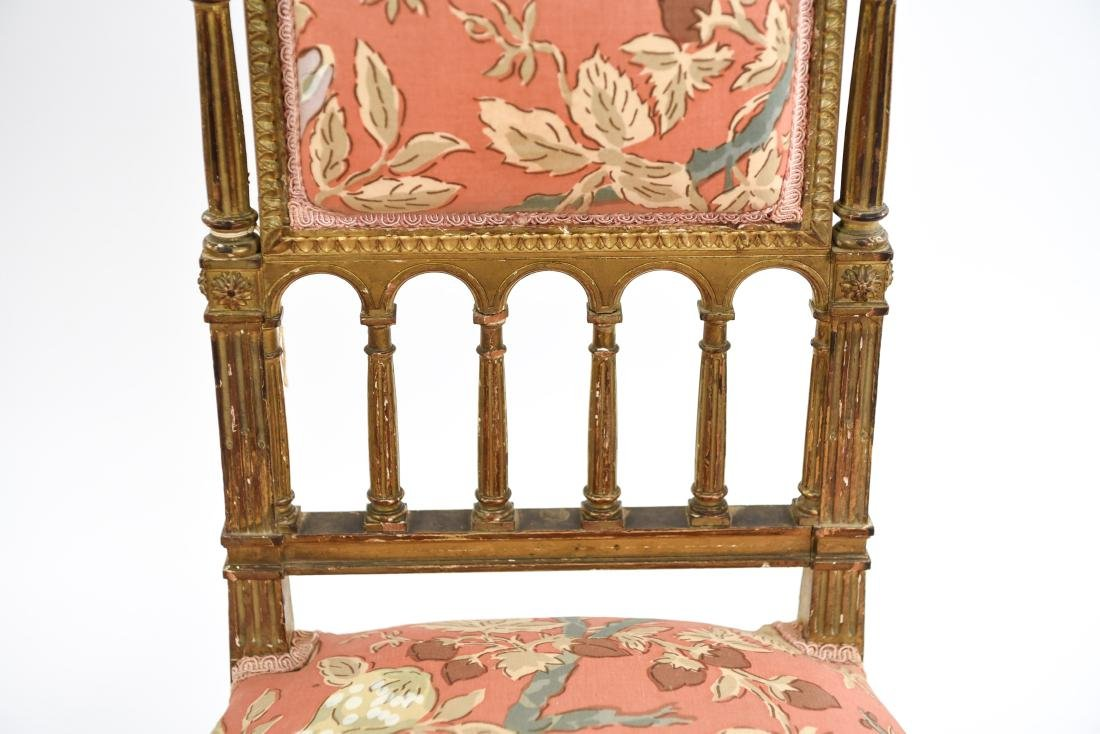 PAIR OF SMALL GILT FRENCH CHAIRS - 5