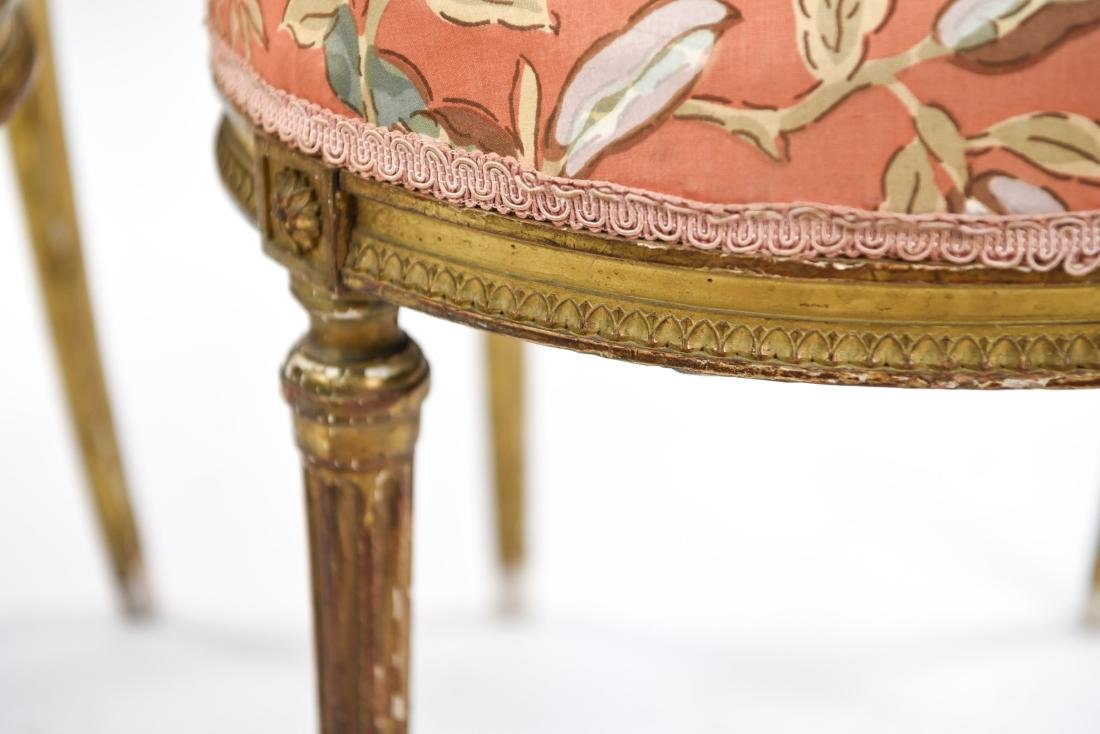 PAIR OF SMALL GILT FRENCH CHAIRS - 6