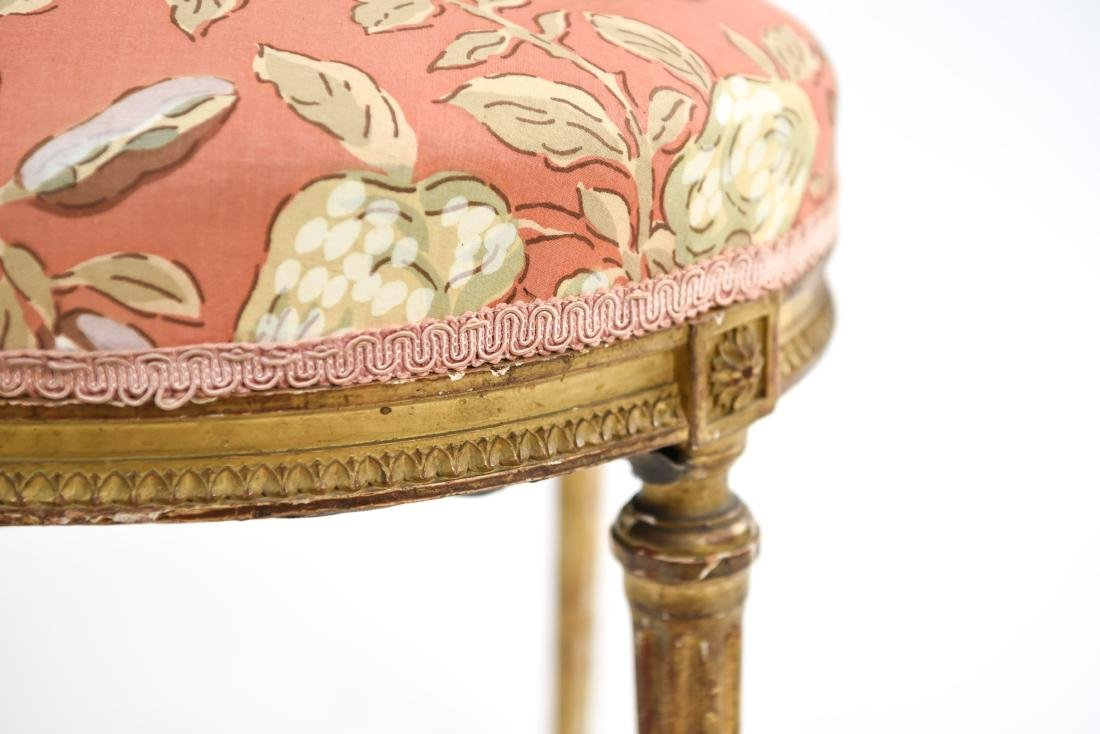 PAIR OF SMALL GILT FRENCH CHAIRS - 9