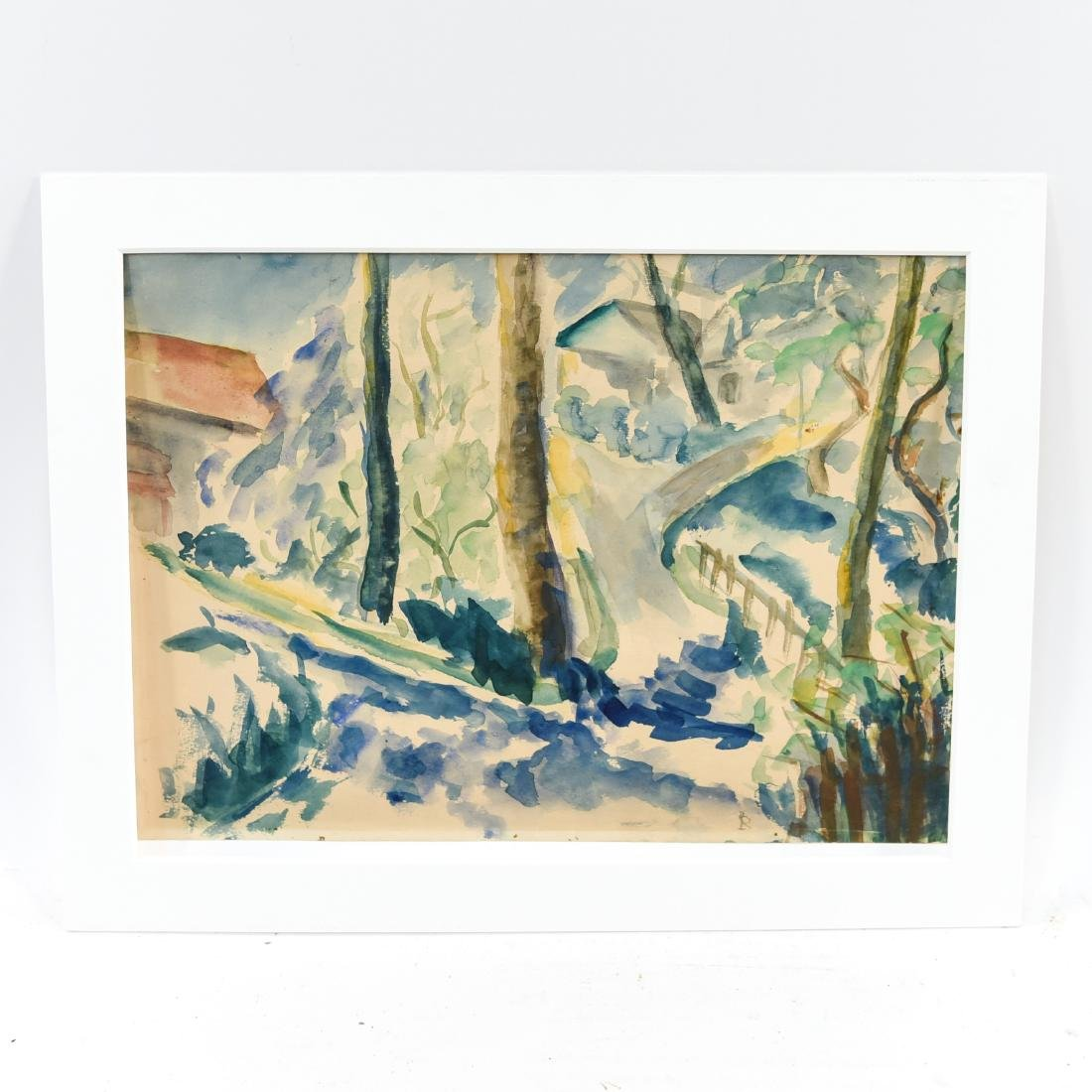 EARLY 20TH C. WATERCOLOR LANDSCAPE