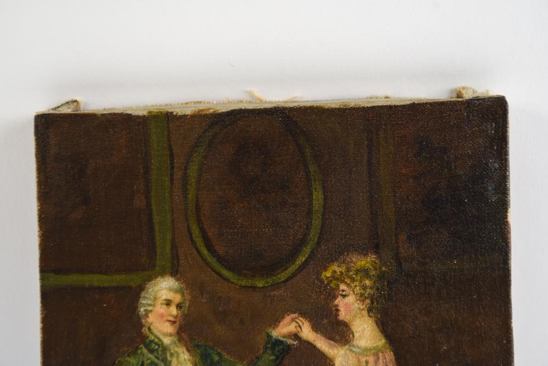 LATE 19TH C. O/C DANCING COUPLE PAINTING - 5