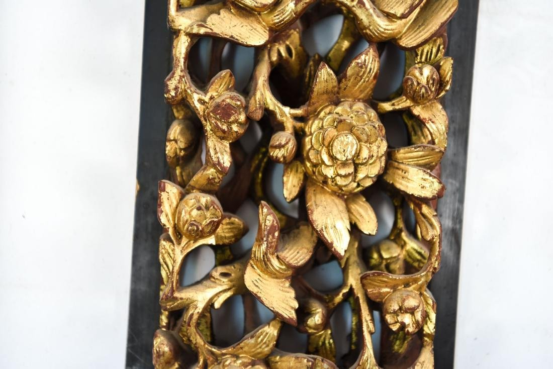 CARVED AND GILT ASIAN PANEL WALL HANGINGS - 10