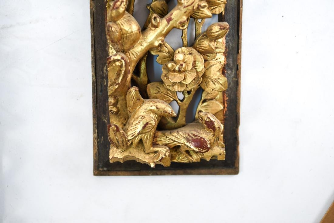 CARVED AND GILT ASIAN PANEL WALL HANGINGS - 8
