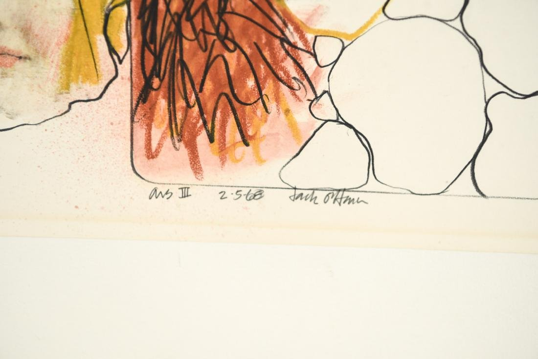 JACK OHARA (1921-2012) MIXED MEDIA ILLUSTRATION - 7